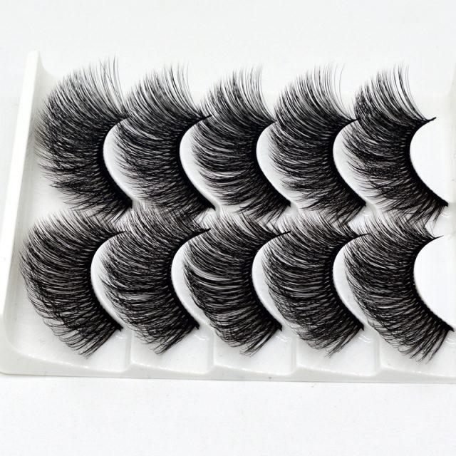 Women's 3D Thick False Eyelashes 5 Pair Set