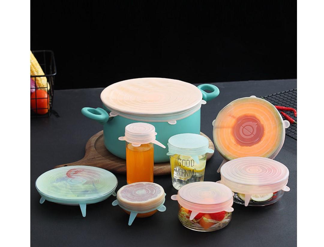 Silicone Food Lids 6 Pcs Set